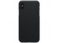 Husa Plastic Nillkin Frosted pentru Apple iPhone XS Max, Neagra, Blister