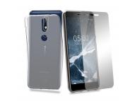 Husa TPU + Folie Ecran Tempered Glass Phonix Pentru Nokia 5.1 Transparenta Blister NK51PP