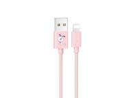 Cablu Date si Incarcare USB la Lightning Usams SJ234 U8 Lovely, 1.2 m, Roz, Blister
