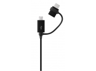 Cablu Date si Incarcare USB la MicroUSB - USB la USB Type-C Samsung EP-DG950CB Combo, 1 m, Negru, Bulk