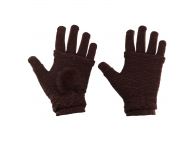 Manusi iarna Touchscreen Sensitive Fingerless maro