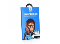 Folie Protectie Ecran Mr. Monkey Glass Samsung Galaxy S9 G960, Sticla securizata, Full Face, Full Glue, 5D, Neagra, Blister