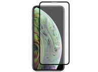 Folie Protectie Ecran Mr. Monkey Glass Apple iPhone X, Sticla securizata, Full Face, Full Glue, Strong HD, Neagra, Blister