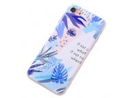 Husa TPU OEM Palm Leaf pentru Apple iPhone 7 / Apple iPhone 8, Multicolor, Bulk