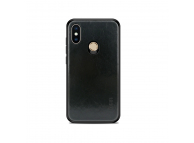 Husa Plastic Mofi Leather pentru Xiaomi Mi Max 3, Neagra, Blister