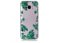 Husa TPU OEM Green Leaf Samsung Galaxy S8 G950, Multicolor, Bulk