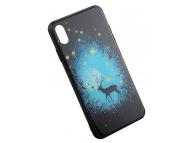 Husa TPU OEM Moonlit Deer Apple iPhone X / Apple iPhone XS, Multicolor, Bulk