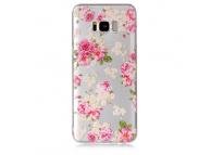 Husa TPU OEM Roses pentru Samsung Galaxy S8 G950, Multicolor, Bulk