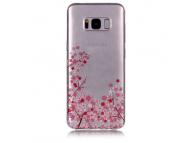 Husa TPU OEM Sakura pentru Samsung Galaxy S8+ G955, Multicolor, Bulk