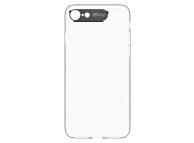 Husa Plastic Totu Design Clear Crystal pentru Apple iPhone 7 / Apple iPhone 8, Neagra - Transparenta, Blister