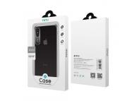 Husa Plastic Totu Design Clear Crystal pentru Apple iPhone XS Max, Neagra - Transparenta, Blister