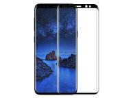 Folie Protectie Ecran Tellur pentru Samsung Galaxy S9 G960, Sticla securizata, Full Face, Edge Glue, 3D, Neagra, Blister