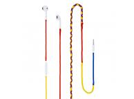 Handsfree Casti In-Ear Tellur cu cablu textil, Cu microfon, 3.5 mm, Multicolor, Blister FRF000019