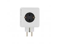 Adaptor priza cu 4 prize Schuko si 2 Porturi USB Tellur TLL151101 Power Cube, Alb, Blister