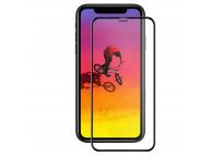Folie Protectie Ecran Tellur pentru Apple iPhone XR, Sticla securizata, Full Face, Edge Glue, 3D, Neagra, Blister TLL145047
