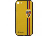 Husa TPU Tellur cu spate din sticla pentru Apple iPhone 8, Tricolor, Multicolor, Blister FRF000028
