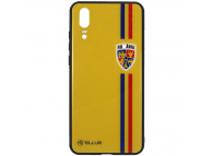 Husa TPU Tellur cu spate din sticla pentru Huawei P20, Tricolor, Multicolor FRF000034