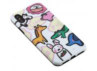 Husa TPU OEM Cute Animal pentru Apple iPhone X / Apple iPhone XS, Multicolor, Bulk