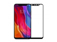 Folie Protectie Ecran Mofi pentru Xiaomi Pocophone F1, Sticla securizata, Full Face, Full Glue, Neagra, Blister