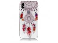Husa TPU OEM Feather Bells pentru Apple iPhone X / Apple iPhone XS, Multicolor, Bulk