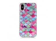 Husa TPU OEM Ripples pentru Apple iPhone X / Apple iPhone XS, Multicolor, Bulk