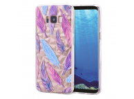Husa TPU OEM Colorful Feather pentru Samsung Galaxy S8 G950, Multicolor, Bulk