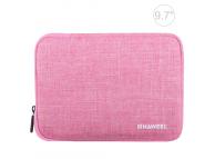 Husa Textil Haweel pentru Tableta 9.7 inci, Dimensiuni interioare 260 x 190 mm, Waterproof, Roz, Bulk