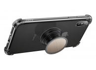 Husa TPU Totu Design cu Suport Stand pentru Apple iPhone XS Max, Transparenta, Blister