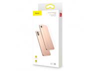 Folie Protectie Spate Baseus pentru Apple iPhone XR, Sticla securizata, Edge Glue, Blister