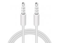Cablu Audio 3.5 mm la 3.5 mm OEM, 1 m, Alb, Bulk
