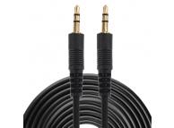 Cablu Audio 3.5 mm la 3.5 mm OEM, 10 m, Negru, Bulk