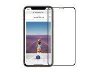 Folie Protectie Ecran Mofi pentru Apple iPhone X / Apple iPhone XS, Sticla securizata, Edge Glue, Neagra, Blister