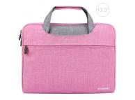 Husa textil laptop 13.3 inci Haweel Roz