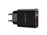 Incarcator Retea USB Floveme YXF101206, Cu Afisaj, 2 X USB, 2.2A, Negru, Blister