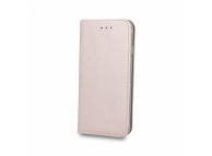 Husa Piele OEM Smart Magnetic pentru Samsung J6 Plus (2018) J610, Roz Aurie, Bulk