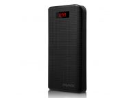 Baterie Externa Powerbank MyMAx Cu Afisaj, 30000 mA, 2 x USB, Neagra, Blister