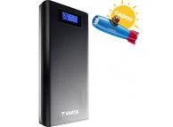 Baterie Externa Powerbank Varta LCD Power, 18200 mA, 2 x USB, Afisaj Led, Neagra, Blister