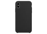 Husa TPU OEM Pure Silicone pentru Apple iPhone XS Max, Neagra, Blister