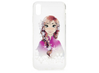 Husa TPU Disney Anna 001 pentru Apple iPhone X, Multicolor, Blister