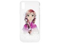 Husa TPU Disney Anna 001 pentru Apple iPhone XS Max, Multicolor, Blister