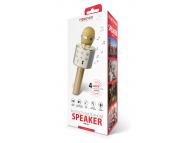 Microfon Karaoke Cu Difuzor Bluetooth Forever BMS-300 Auriu Blister