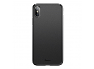 Husa Plastic Baseus Wing pentru Apple iPhone XS Max, Slim, Neagra, Blister WIAPIPH65-EA1