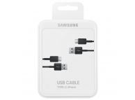 Set Cablu Date si Incarcare USB la USB Type-C Samsung EP-DG930MBEGWW, 1.5 m, Negru, Blister