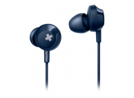Handsfree Casti In-Ear Philips BASS+, Cu microfon, 3.5 mm, Albastru, Blister SHE4305BL/00