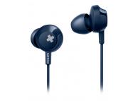 Handsfree Casti In-Ear Philips BASS+, Cu microfon, 3.5 mm, Albastru, Blister SHE4305BL/00