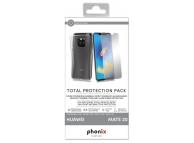 Husa silicon TPU + Folie Ecran Tempered Glass Phonix Pentru Huawei Mate 20 Blister
