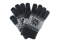 Manusi iarna Touchscreen Sensitive Charming Winter gri