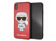 Husa TPU Karl Lagerfeld KLHCI65KSCORE pentru Apple iPhone XS Max, Space Cosmonaut, Rosie, Blister