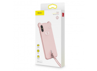 Husa TPU Baseus Bear pentru Apple iPhone X / Apple iPhone XS, Roz, Blister