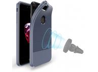 Husa TPU DUX DUCIS MOJO Carbon Magnetic Apple iPhone 7 / Apple iPhone 8, Bleumarin, Blister